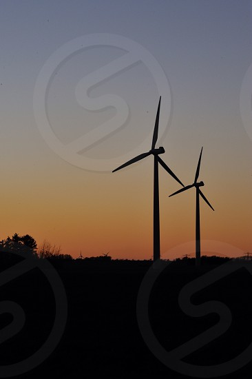 Lonely windmills  photo