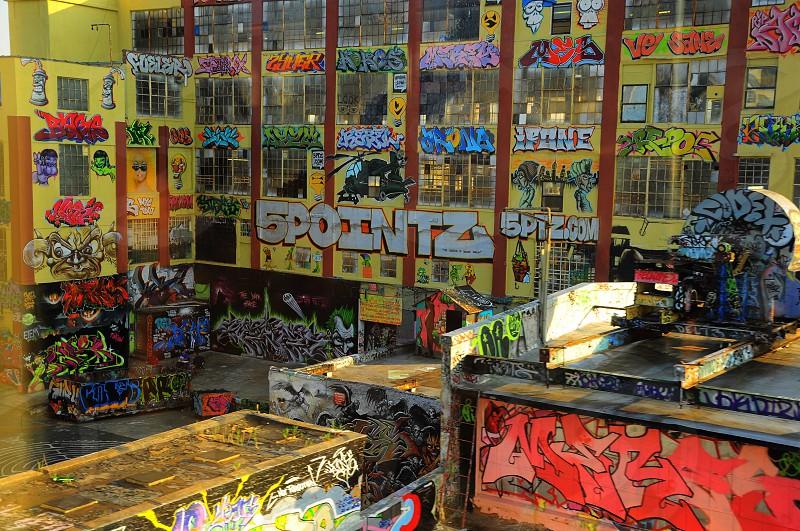 spointz store with paint graffiti  theme photo