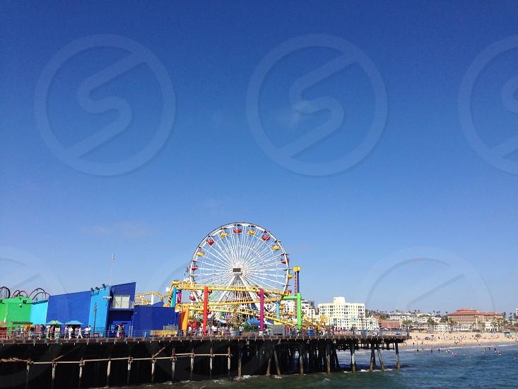 ferres wheel on sea dock photo