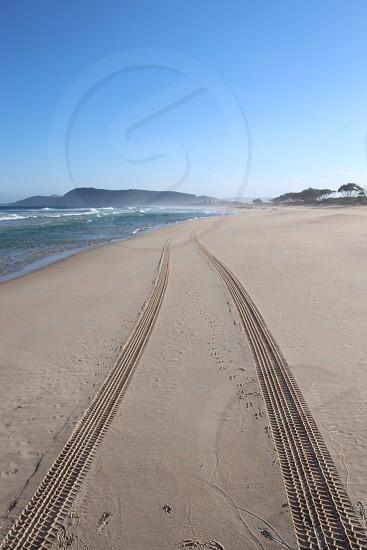 Beach NSW Australia sand tracks photo