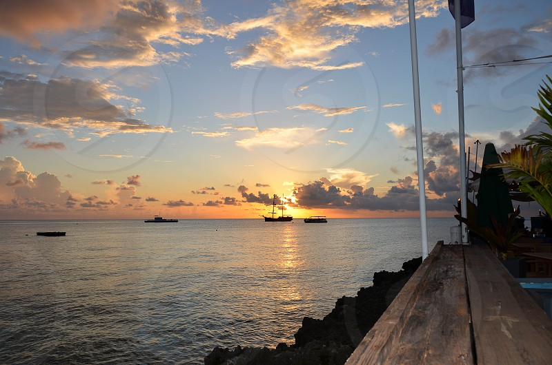 Sunset in Grand Cayman photo