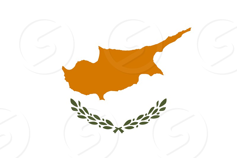 Official Large Flat Flag of Cyprus Horizontal photo
