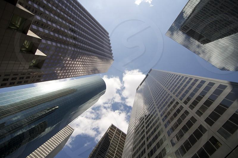 tall skyscraper buildings view photo