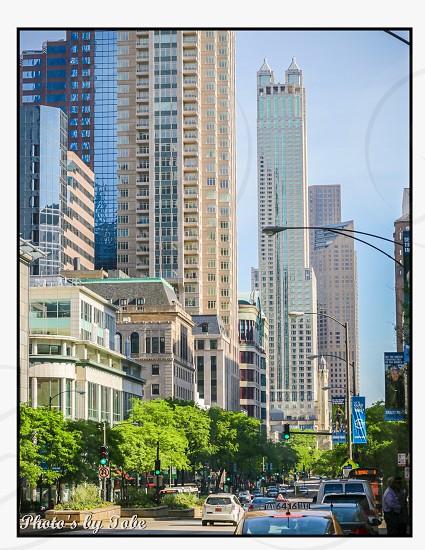 Michigan Avenue downtown Chicago photo