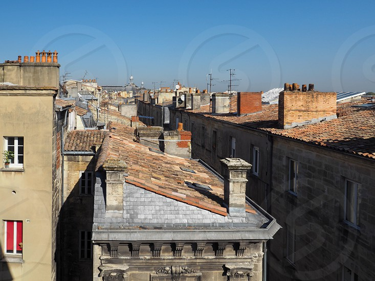 View from Porte Cailhau (Palace Gate) in Bordeaux photo