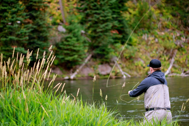 Yellowstone fly fish  photo