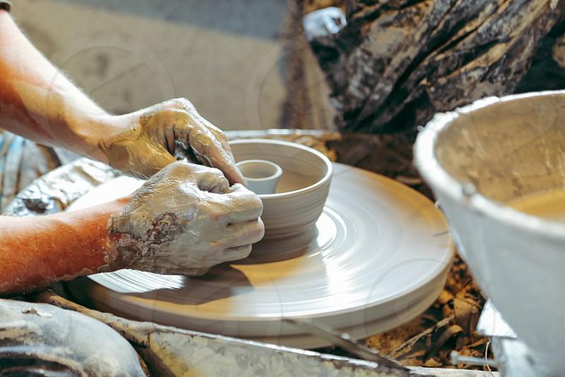 Creative creatives hands ceramics clay pottery pottering photo