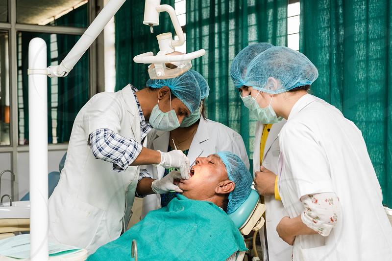 Dentist at work photo