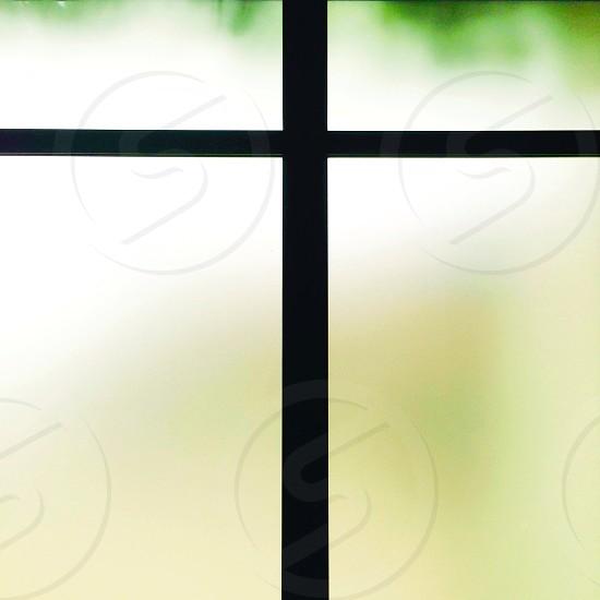 black window pane photo
