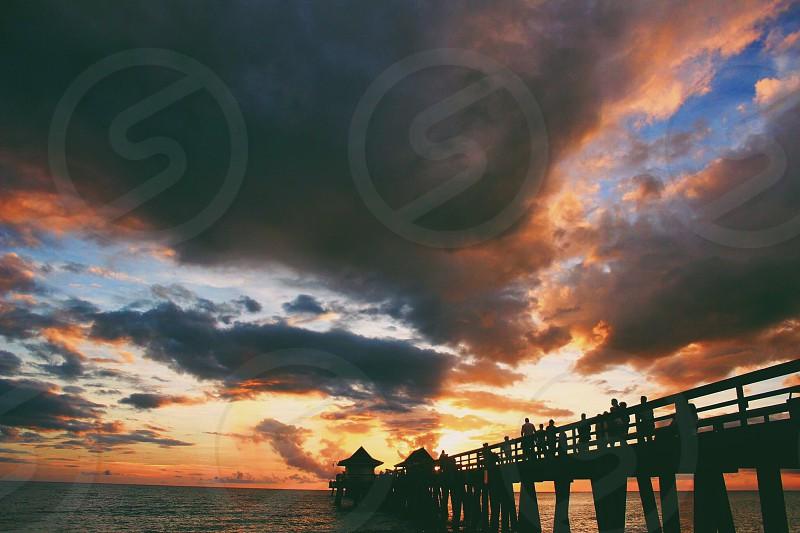 Pier sunset hour  photo