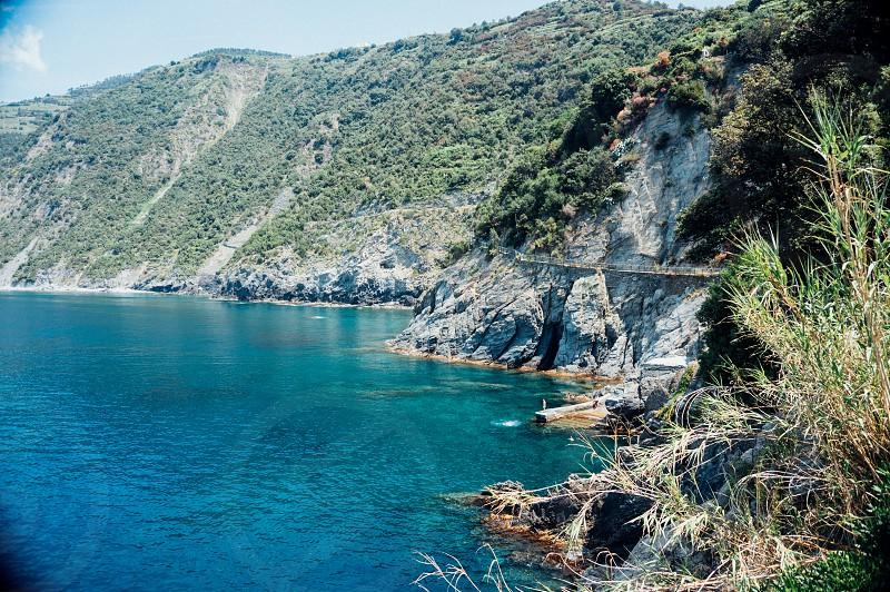 Italy Italian riviera Cinque Terre Colourful Sea Blue Travel Ridge Europe Town Escape Dream Vacation Landscape Beauty Beautiful photo