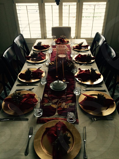 Setting the table  photo