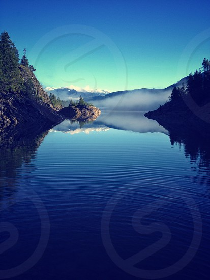 Lake mountains reflection  photo