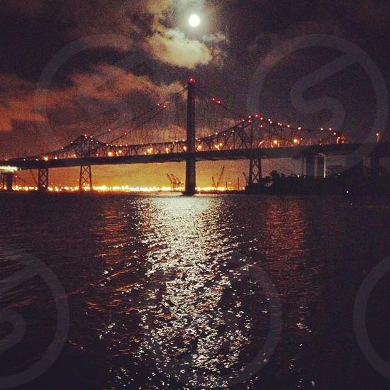 golden gate bridge night view photography  photo