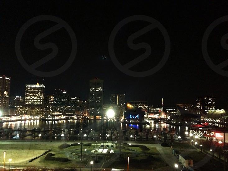 city night lights photo