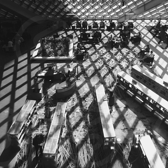 I love [architecture patterns lights and shadows]. Taken at the Seattle Public Library. photo