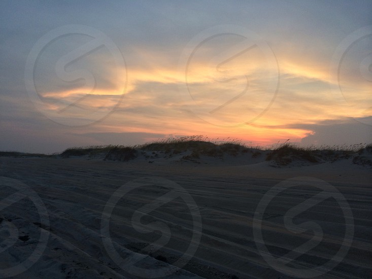 desert under sunset photo