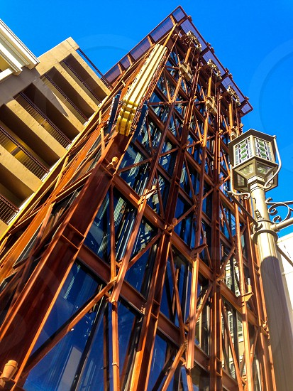 brown blue and gray structure photo