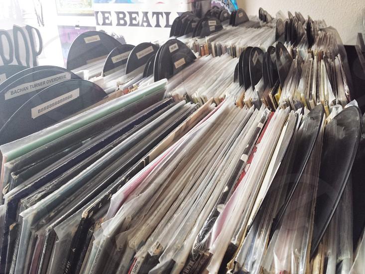 Vintage Vinyl Record Collection LP 33 RPM photo