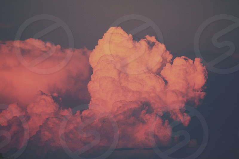 Cotton candy clouds photo