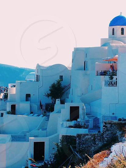 Blue building  photo