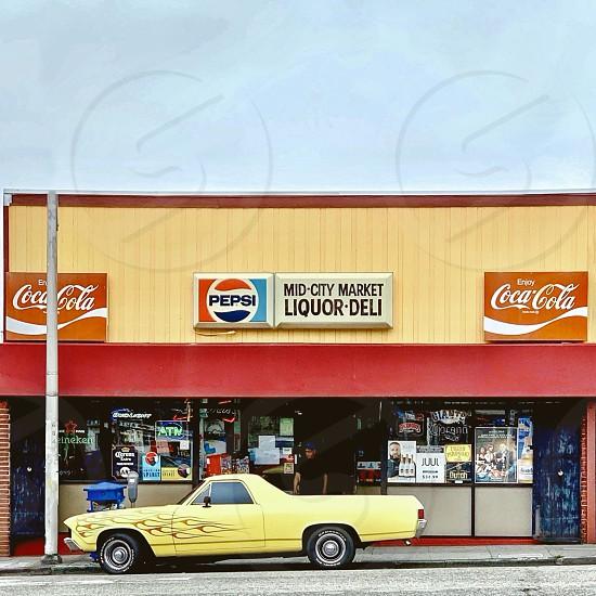 Storefront car photo