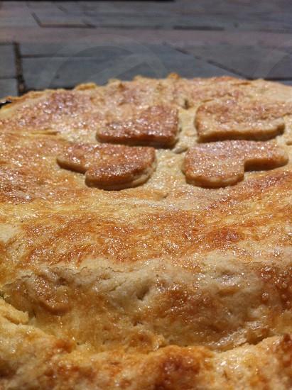 Blueberry pie pie crust sugar dessert photo