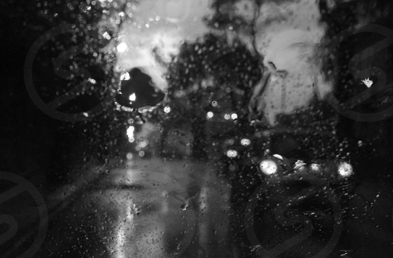 Rain & cars photo