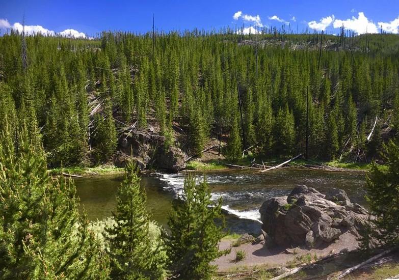 Yellowstone National Park Wyoming landscape beautiful scenic photo