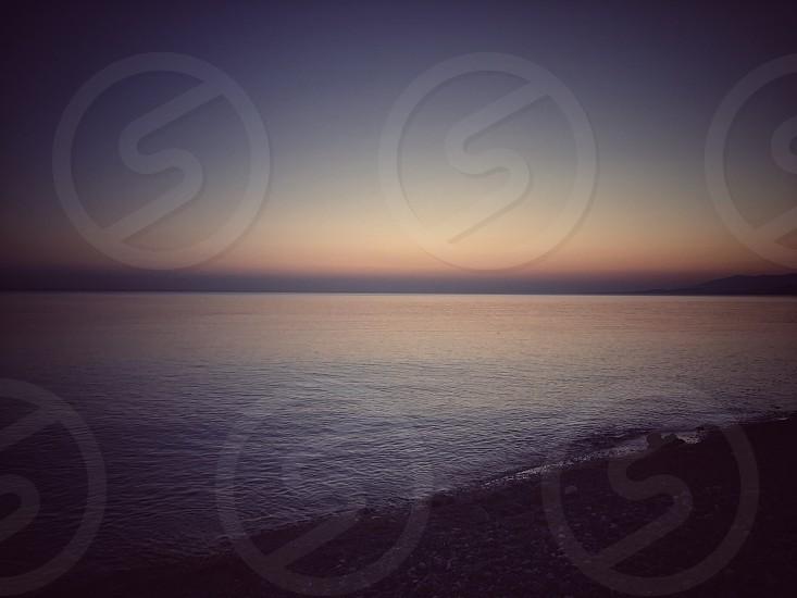 Sun sunset sea photo