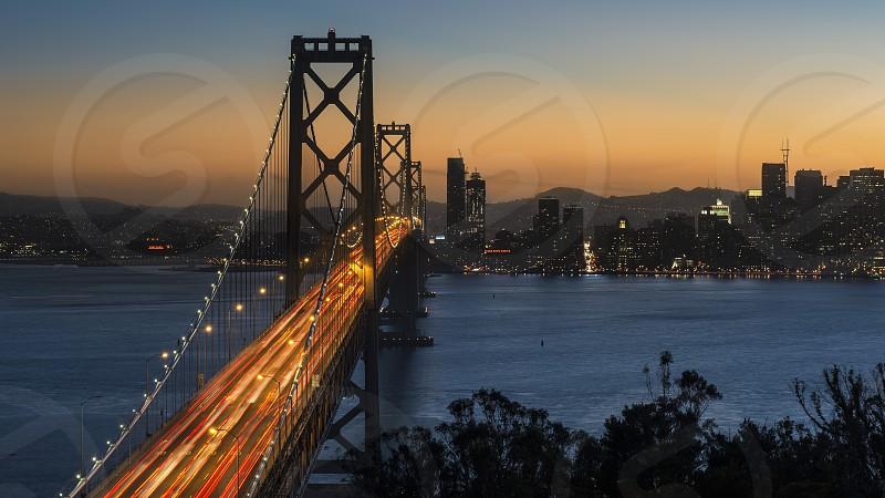 Bay Bridge Sunset colors photo