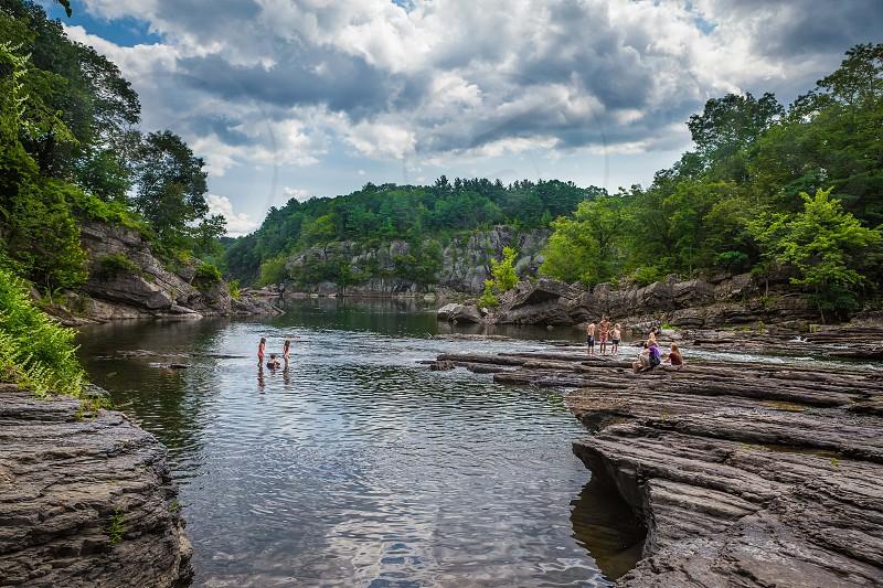 Catskill creek swimming hole in Catskill mountains NY photo