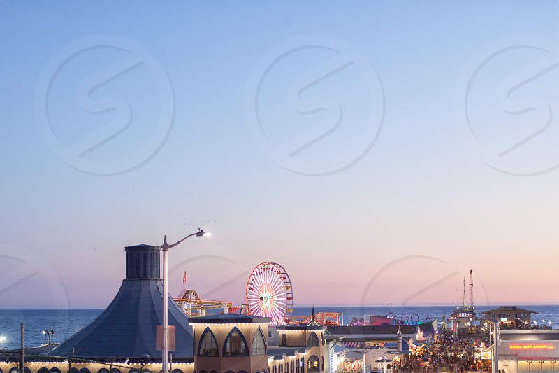Sunset at the pier  photo