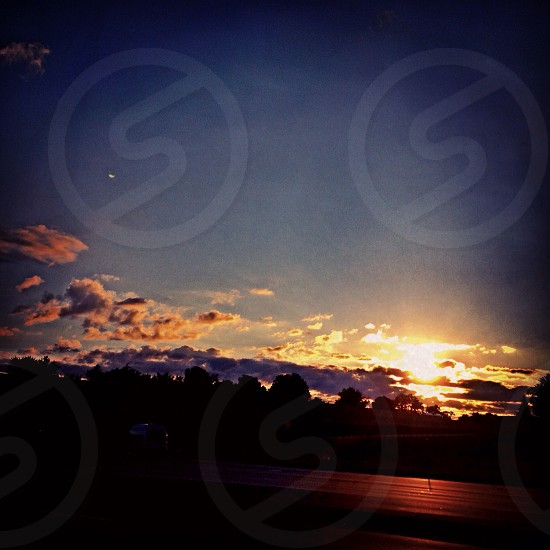 Sunrise over highway I-94. PortageMI photo