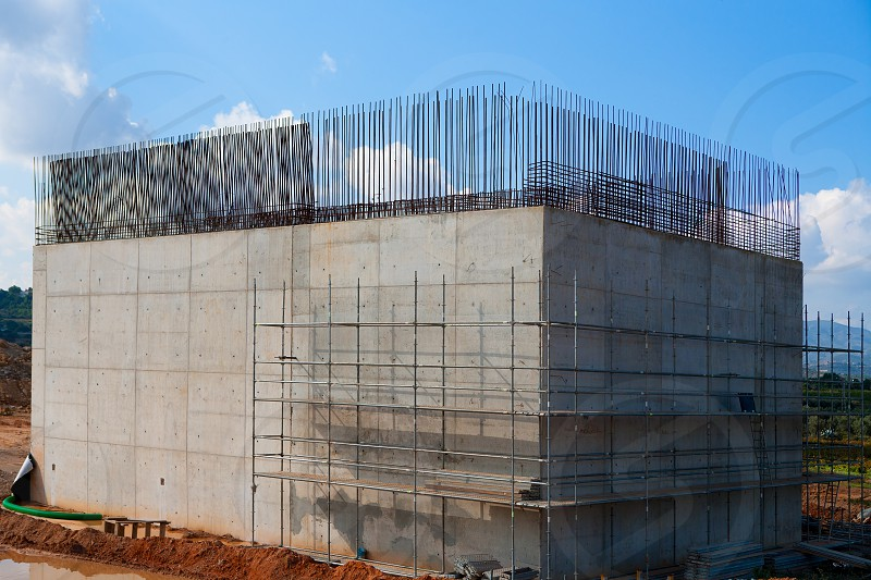 reinforced concrete basement column for high speed train bridge in Spain photo