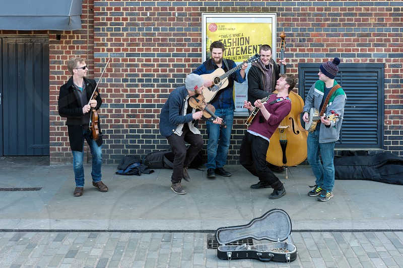 Group of Men Busking on the Southbank photo