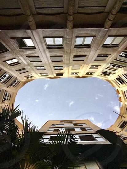 Spain art house barcelona modern building la pedrera photo