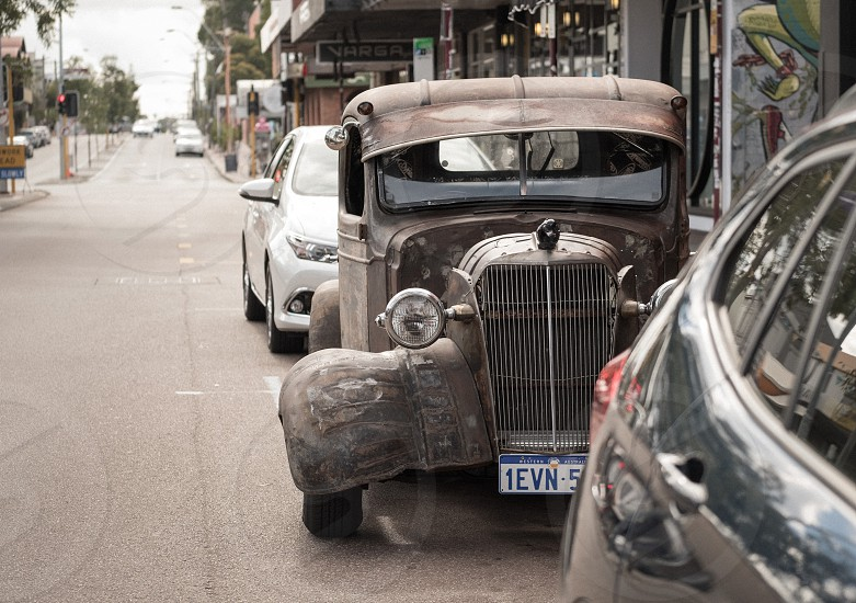 vintage car street photography photo