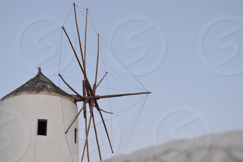 Santorini Greece Windmill photo