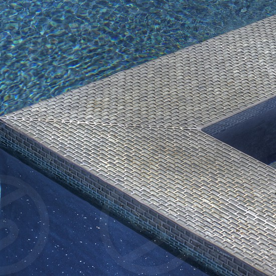 Swimming pool and tile. photo