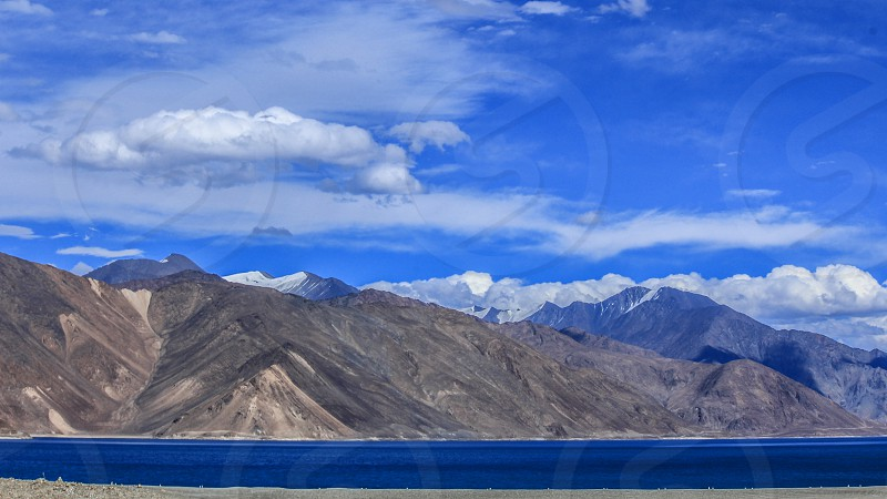 beautiful landscape landscape water poster wall poster great picture mountain road india wall art home decor vacation digital art art prints awesome wallpaper beautiful wallpaper living room poster living room wall reception office reception hotel reception orange sky clouds heaven great  wonderful super adventure family relax peace blue nature mountain snowfall snow clad snow clear blue sky himalaya mt everest everest leh pangong lake pangong ladakh photo