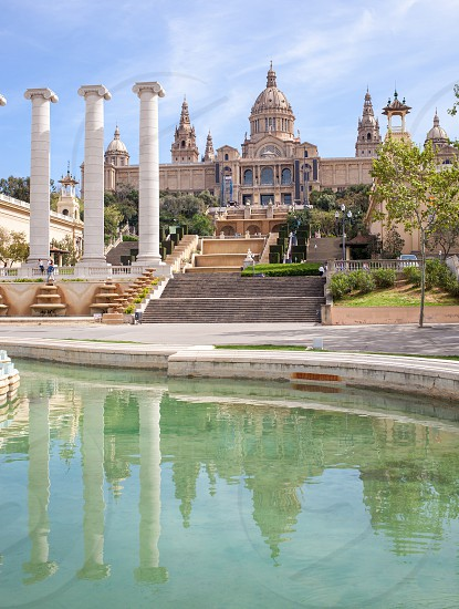 National Art Museum and fountain of Catalonia  Barcelona Spain photo