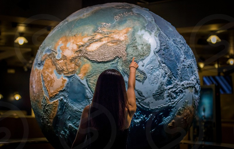 Earth globe in the Denver nature and science museum photo