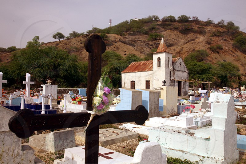 a traditional graveyard at the village of Vemasse in the south of East Timor in southeastasia.