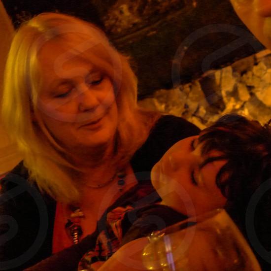 Cuddles with Nan photo