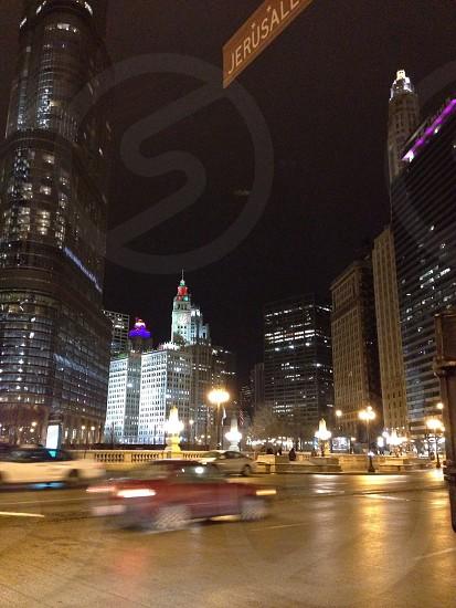 Chicago night  photo