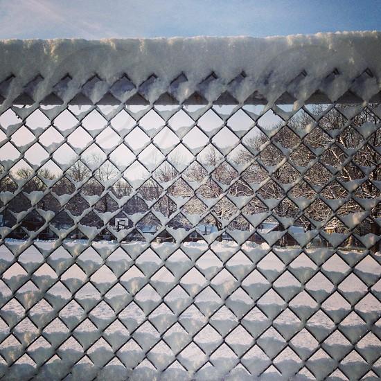 Snow fence photo