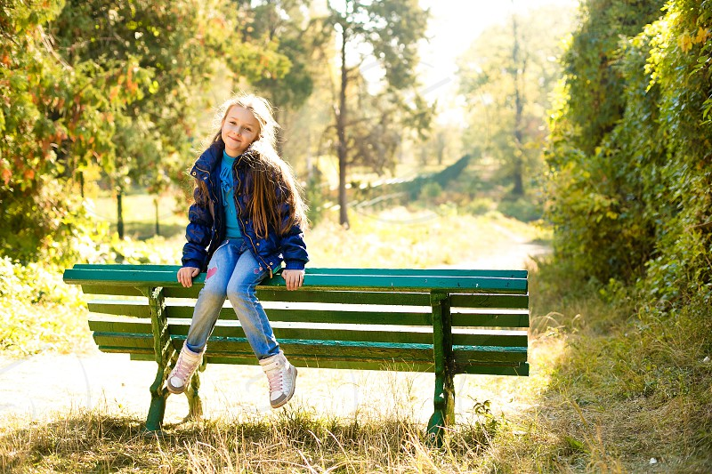Cute girl park love autumn sweet amazing happy sun  photo