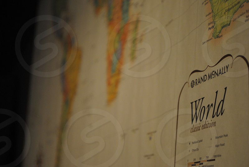 Travel the world cross the map. photo