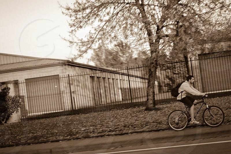 Bike vs car.  photo